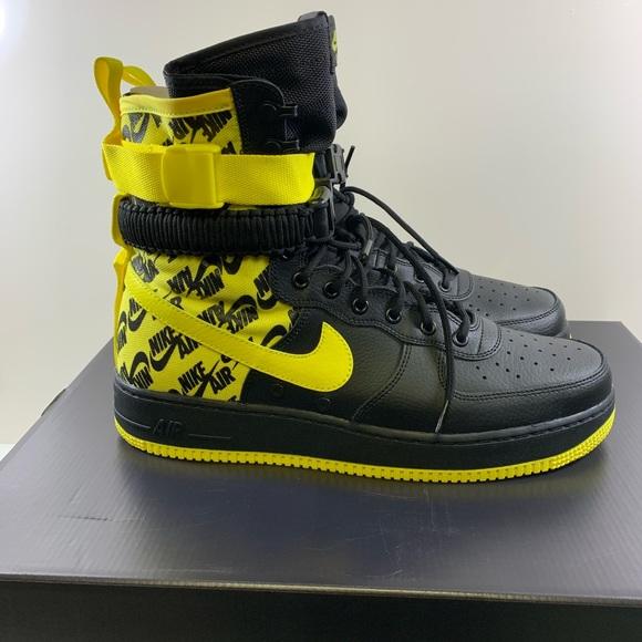 e09ce49af7ad0 Nike Shoes | Sf Af1 Air Force 1 Ar1955001 Ylwblk Sz 13 | Poshmark